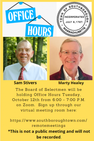 BOS Office Hours October 12 from 6-7PM
